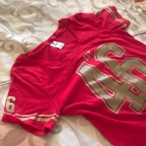 49er T-shirt Victoria's Secret pink